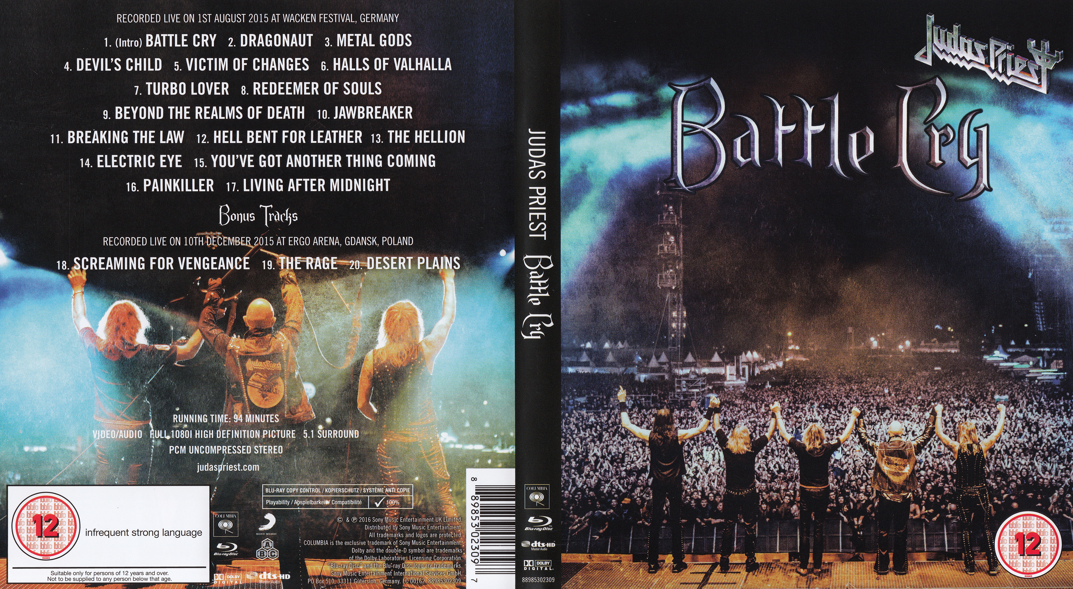 Judas Priest - Battle Cry Blu ray 30 gb exclusivo