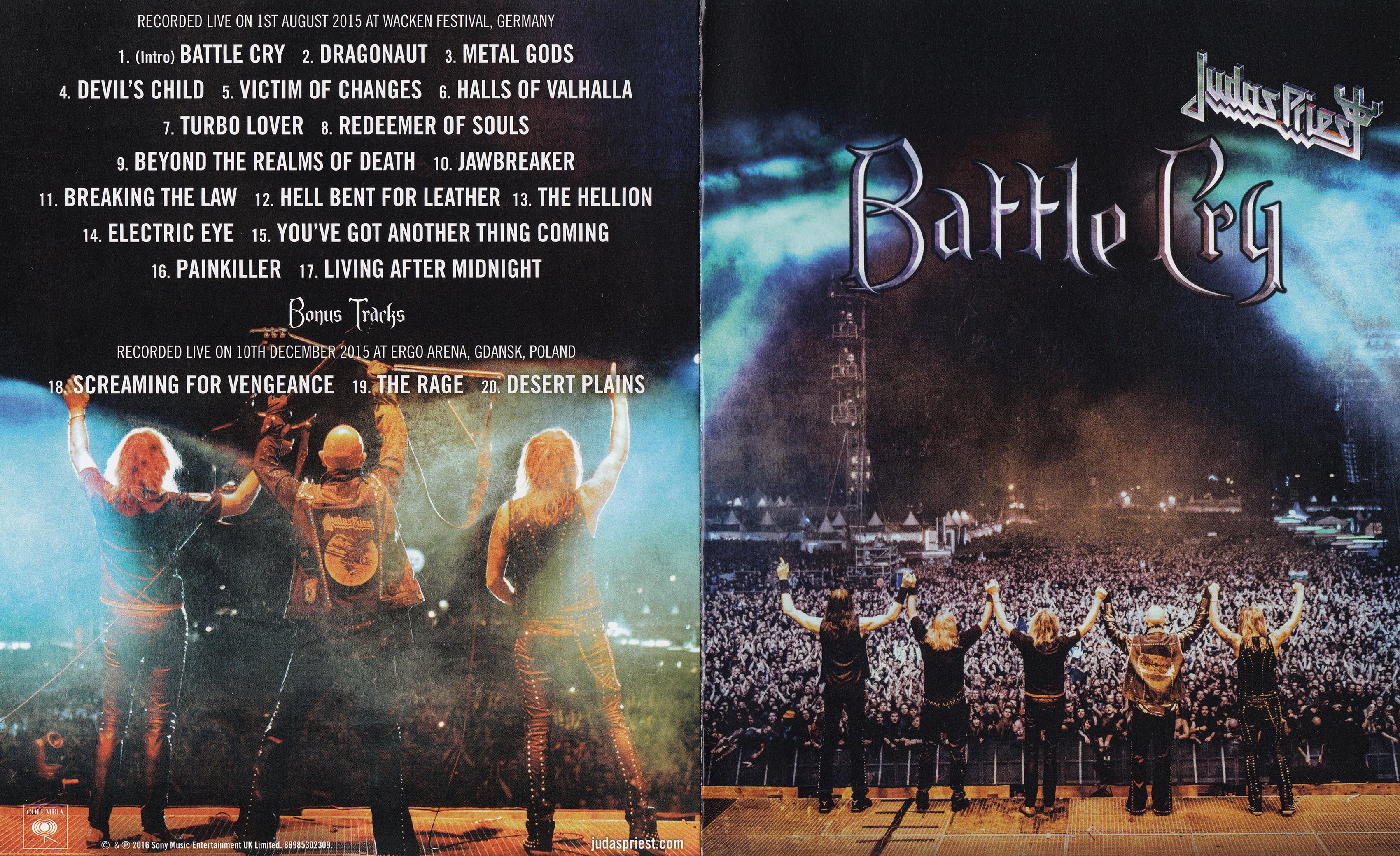 Judas Priest - Battle Cry Blu ray 30 gb exclusivo