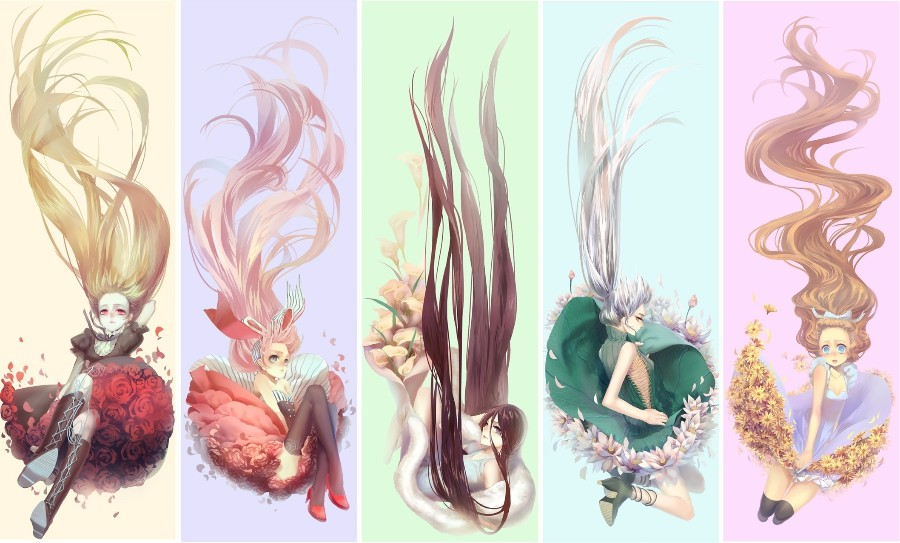 Цветочные девушки