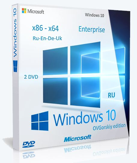 Microsoft® Windows® 10 Ent 1703 RS2 x86-x64 RU-en-de-uk by OVGorskiy® 07.2017 2DVD [Multi/Ru]