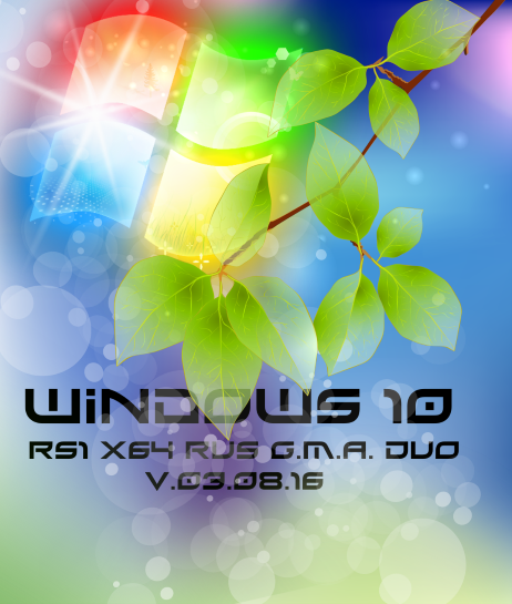 Windows 10 RS1 by G.M.A. DUO v.03.08.16 (x64) (2016) Rus