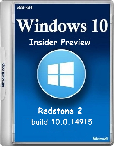 Microsoft Windows 10 Insider Preview Redstone 2 build 10.0.14915 (x86-x64) (esd) Rus