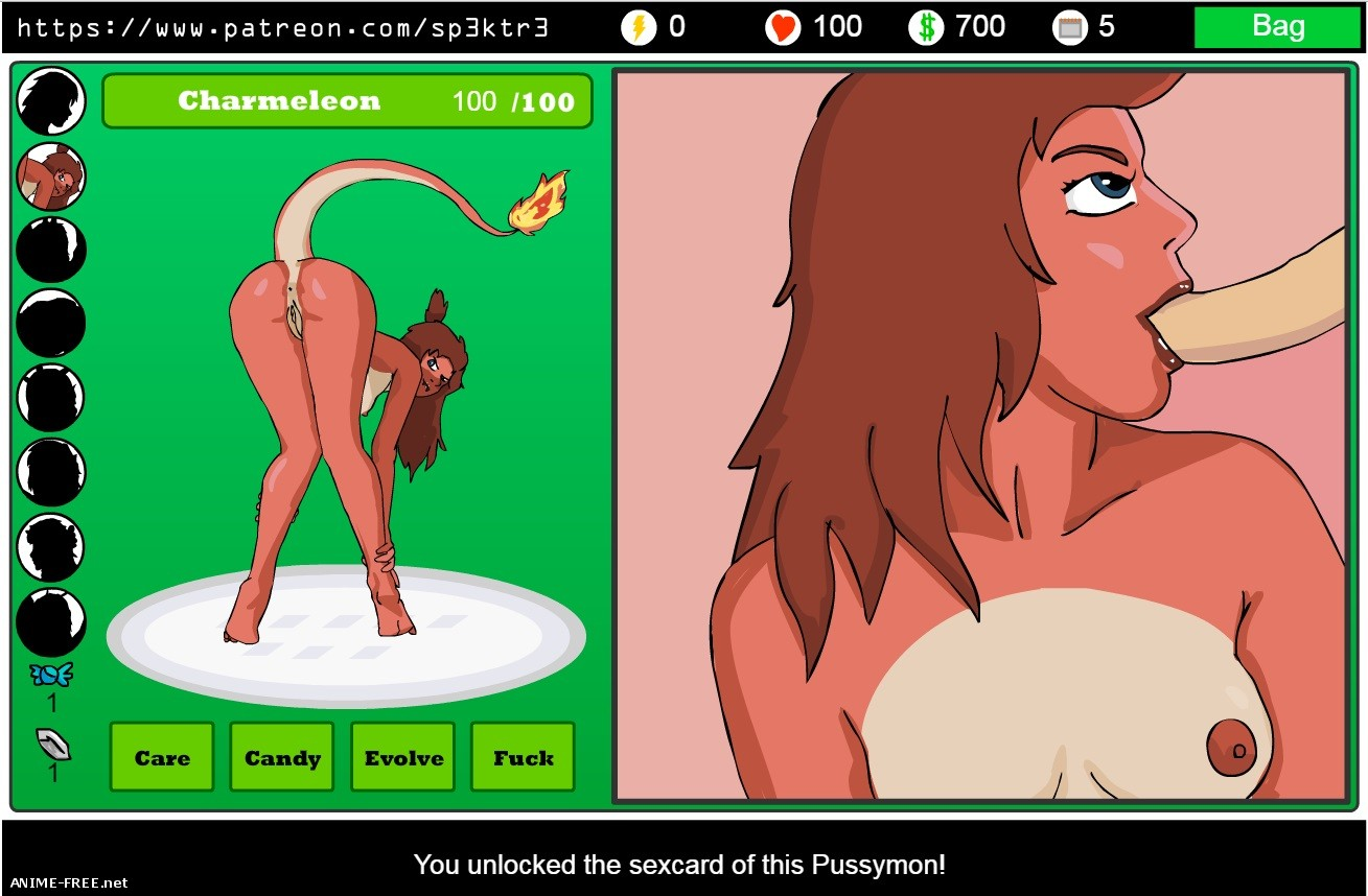 Серия игр Pussymon [Uncen] [Flash] [ENG] H-Game