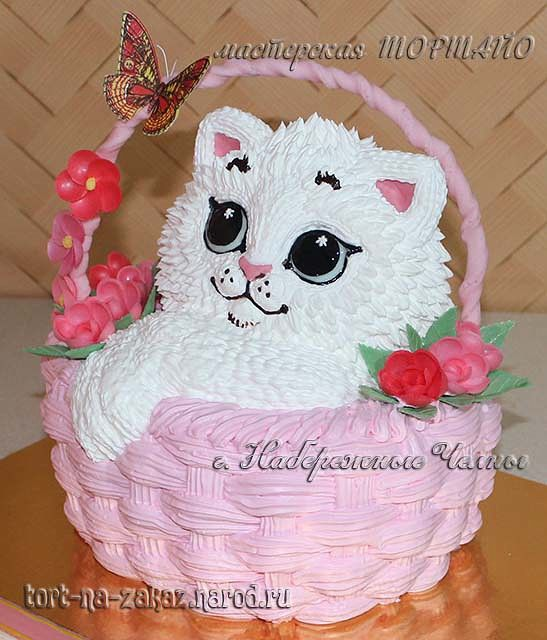 Торт котенок из крема фото