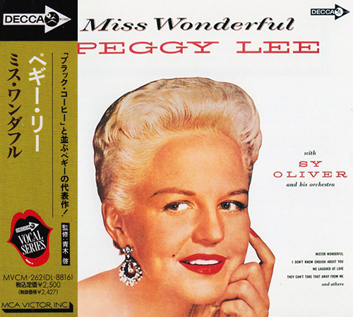 (Vocal Jazz) [CD] Peggy Lee - Miss Wonderful (1959) - 1992, FLAC (tracks+.cue), lossless