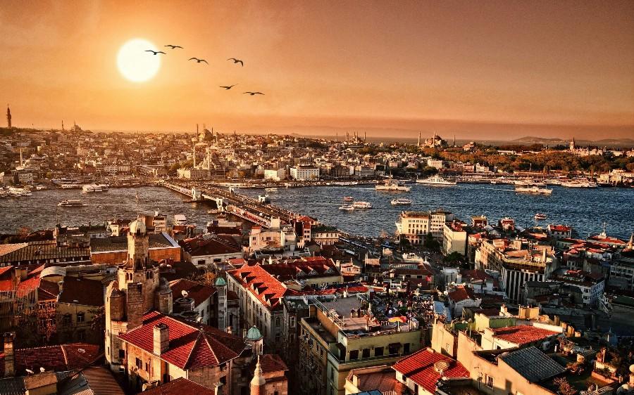 Пейзаж старого города