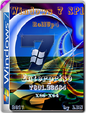 Windows 7 Enterprise SP1 7601.23564 RollUP4 2017 MINI by Lopatkin (x86-x64) (2017) Rus