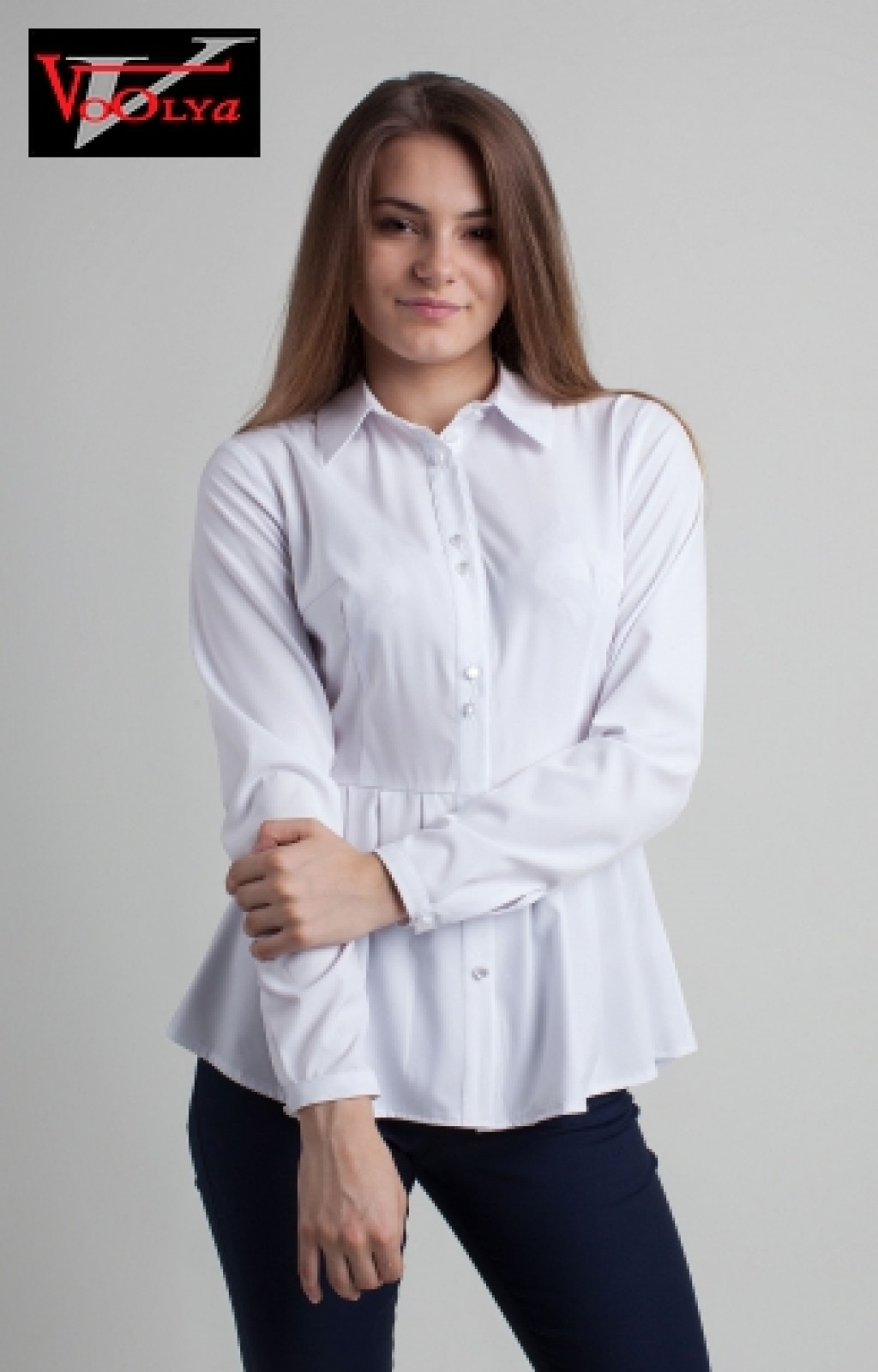 Белая Блузка С Баской С Доставкой