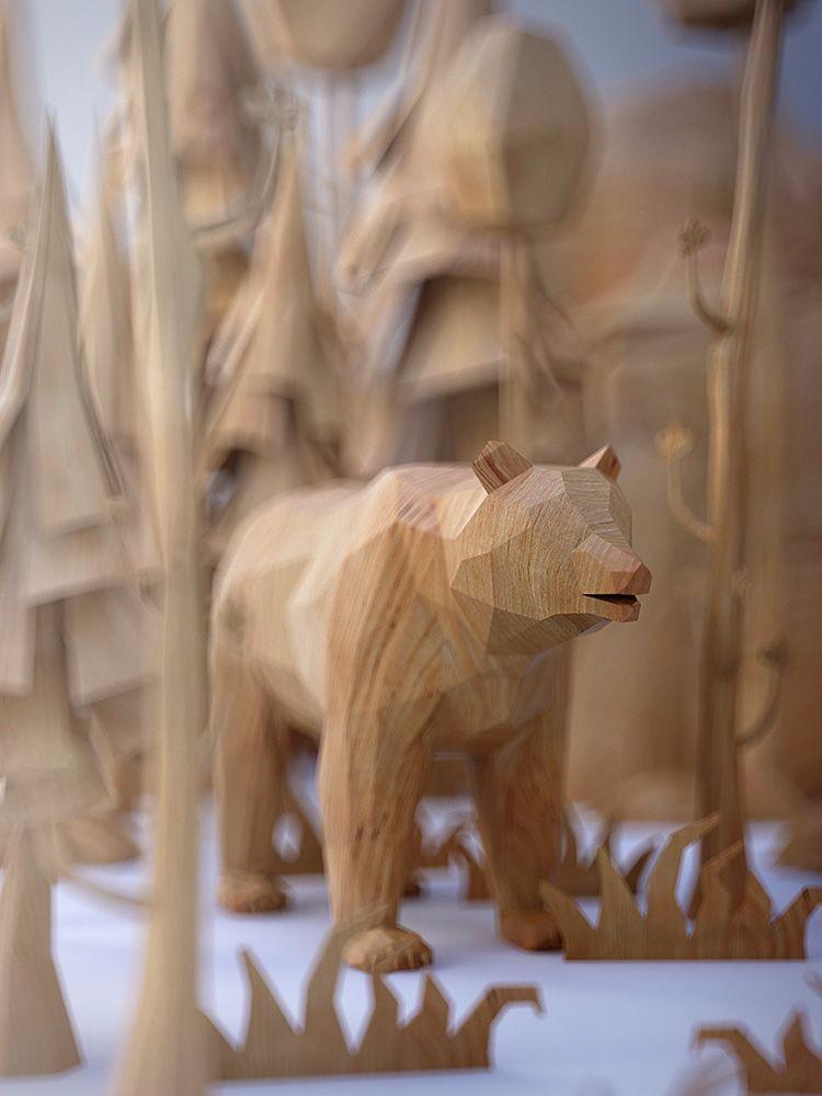 Деревянный медведь