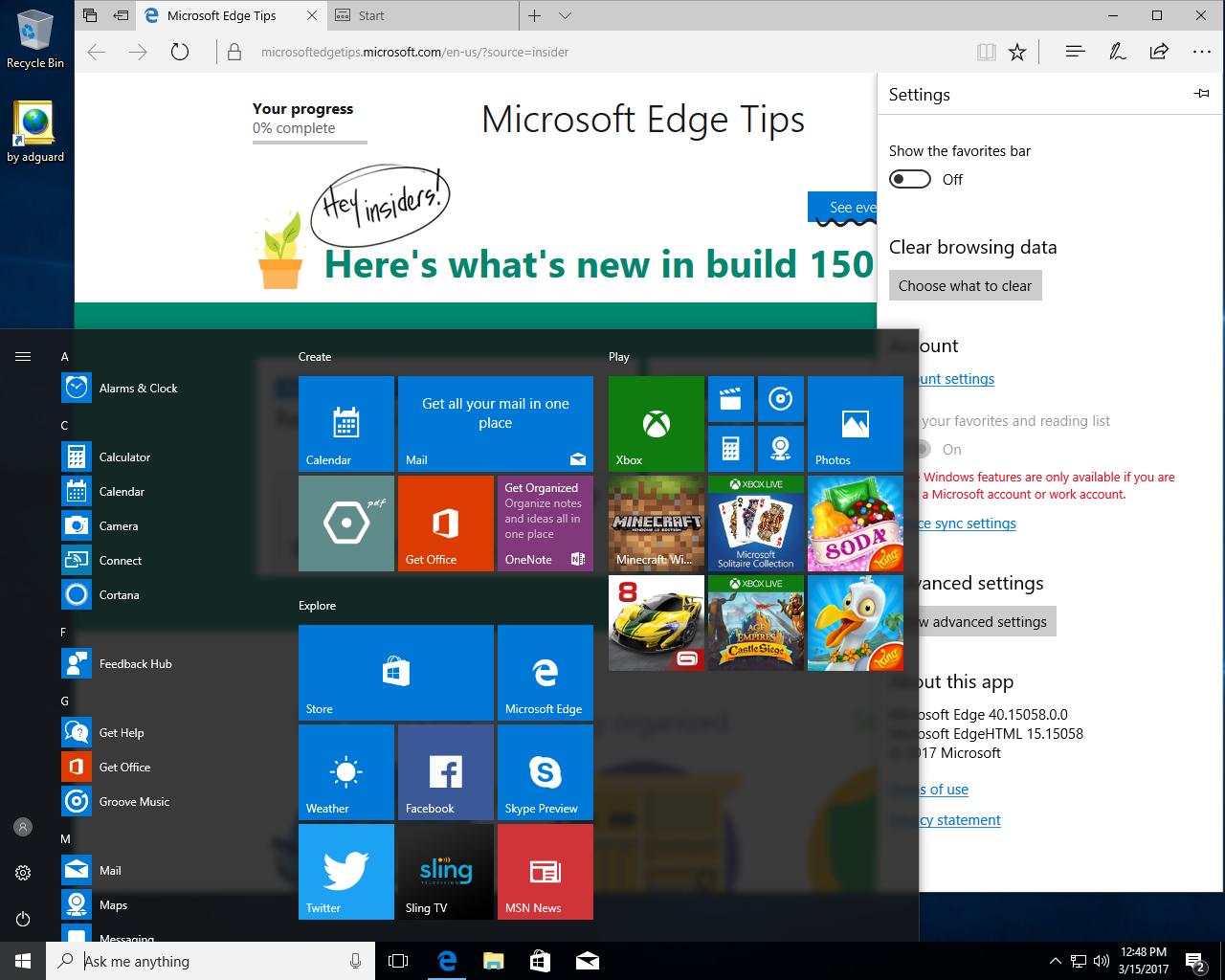 Windows 10 Redstone 2 [15058.0] RC (x86-x64) AIO [32in2] adguard v17.03.15 (2017) Русский / Английский