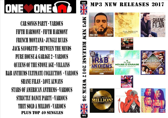 MP3 New Releases Week 36 2017