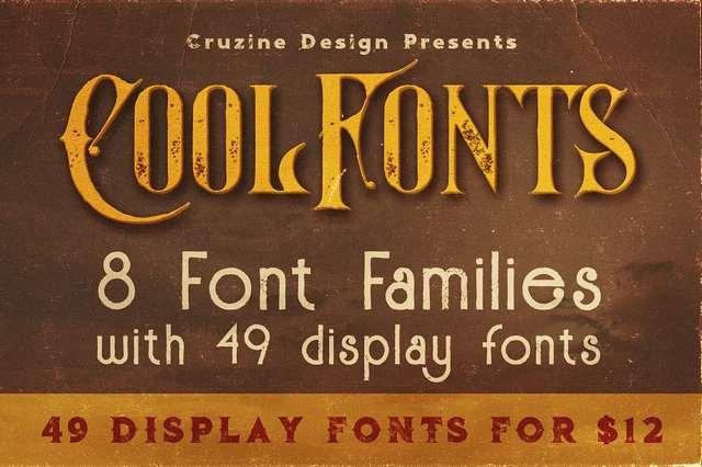 Шрифты - CreativeMarket - 49 Display Fonts for $12 [TTF, OTF]