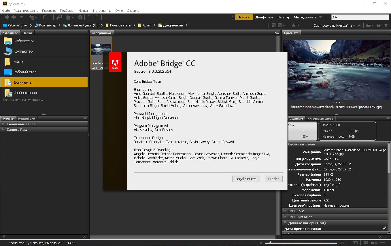 Adobe Bridge CC 2018 8.0.0.262 [x64] (2017) PC | Portable by XpucT