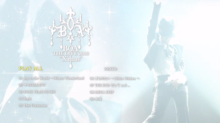 20171114.2215.2 BoA - The Live 2009 X'mas (DVD) menu 1.png