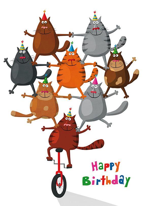 Пожелания здоровья, смешные картинки днем рождения кошка