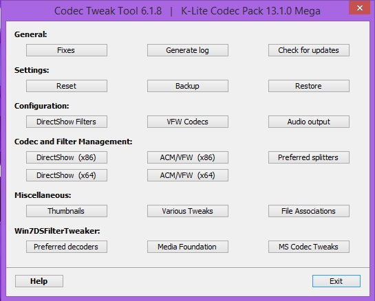 K-Lite Codec Pack 13.7.0 + Update (2017) PC