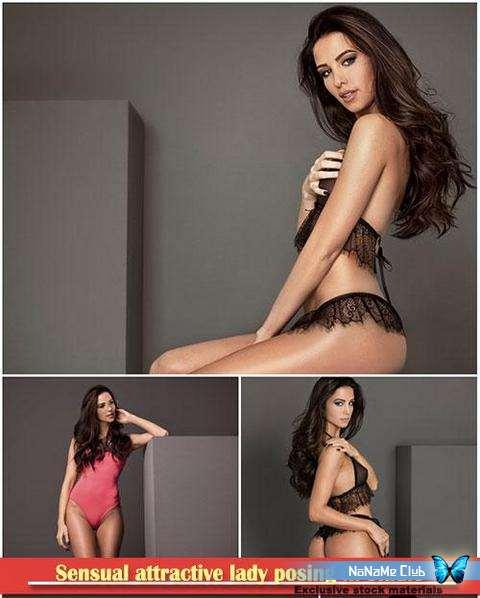 Растровый клипарт - Fotolia - Sensual attractive lady posing in studio [JPG]