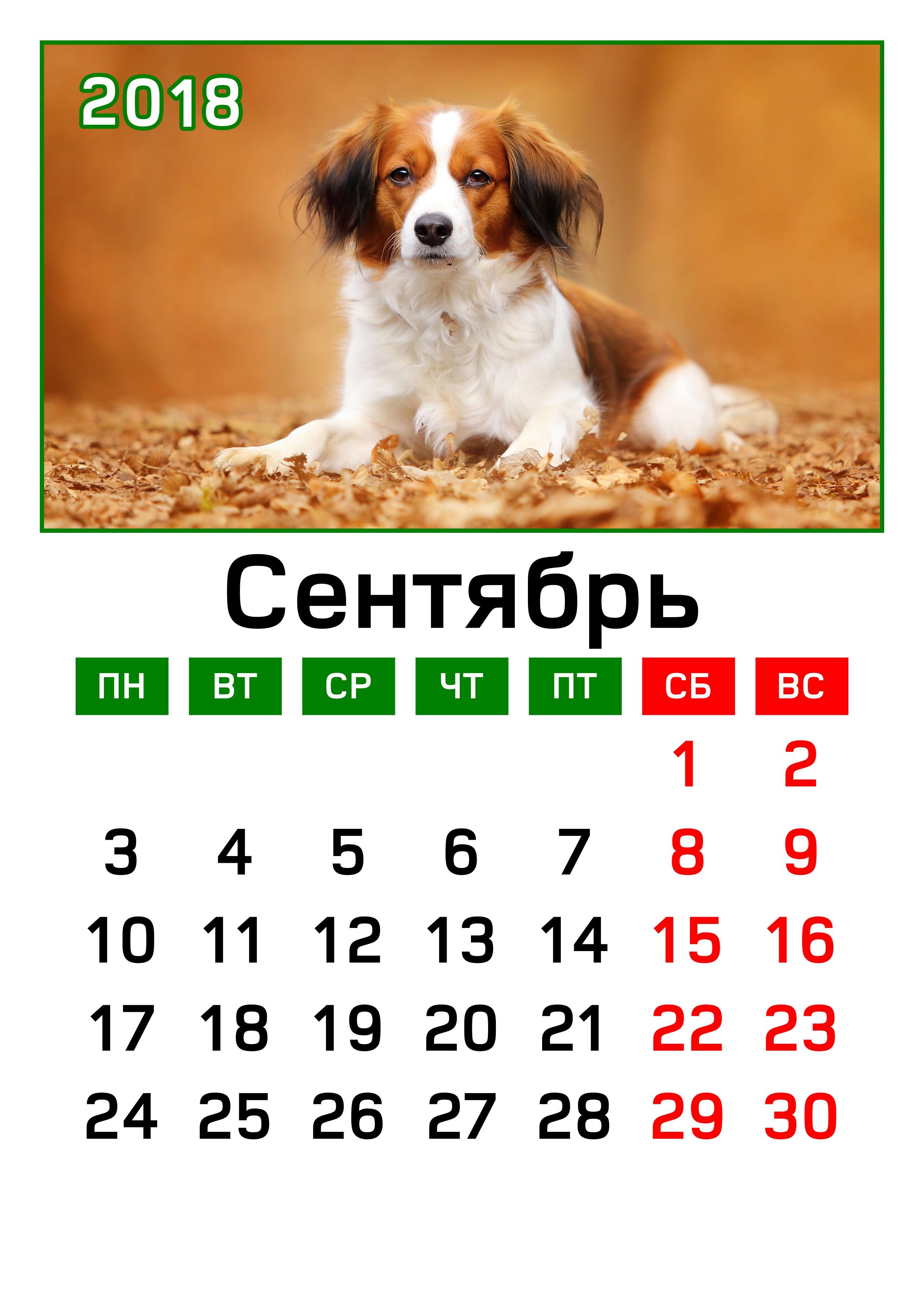 Календарь 2018 открытка 7