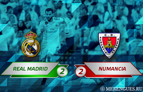 Real Madrid C.F. - CD Numancia 2:2