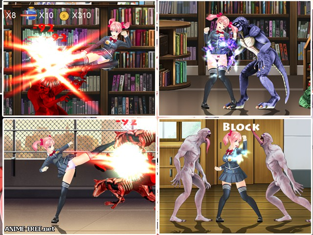 FIGHTING GIRL SAKURA-R [2018] [Uncen] [Action, 3DCG, Fight] [JAP,ENG] H-Game