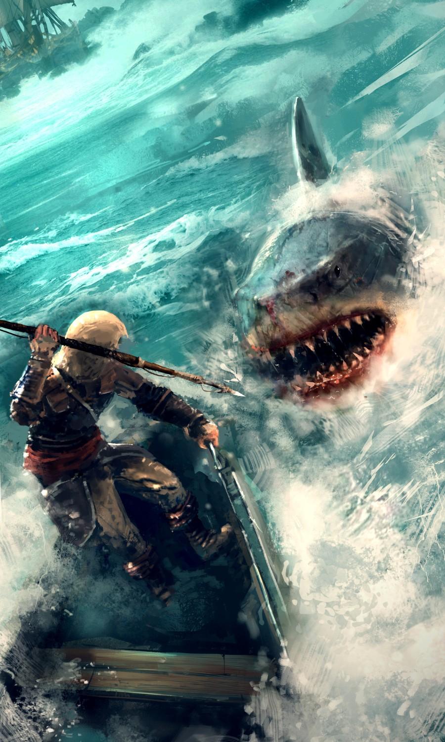 Охота на большую рыбу