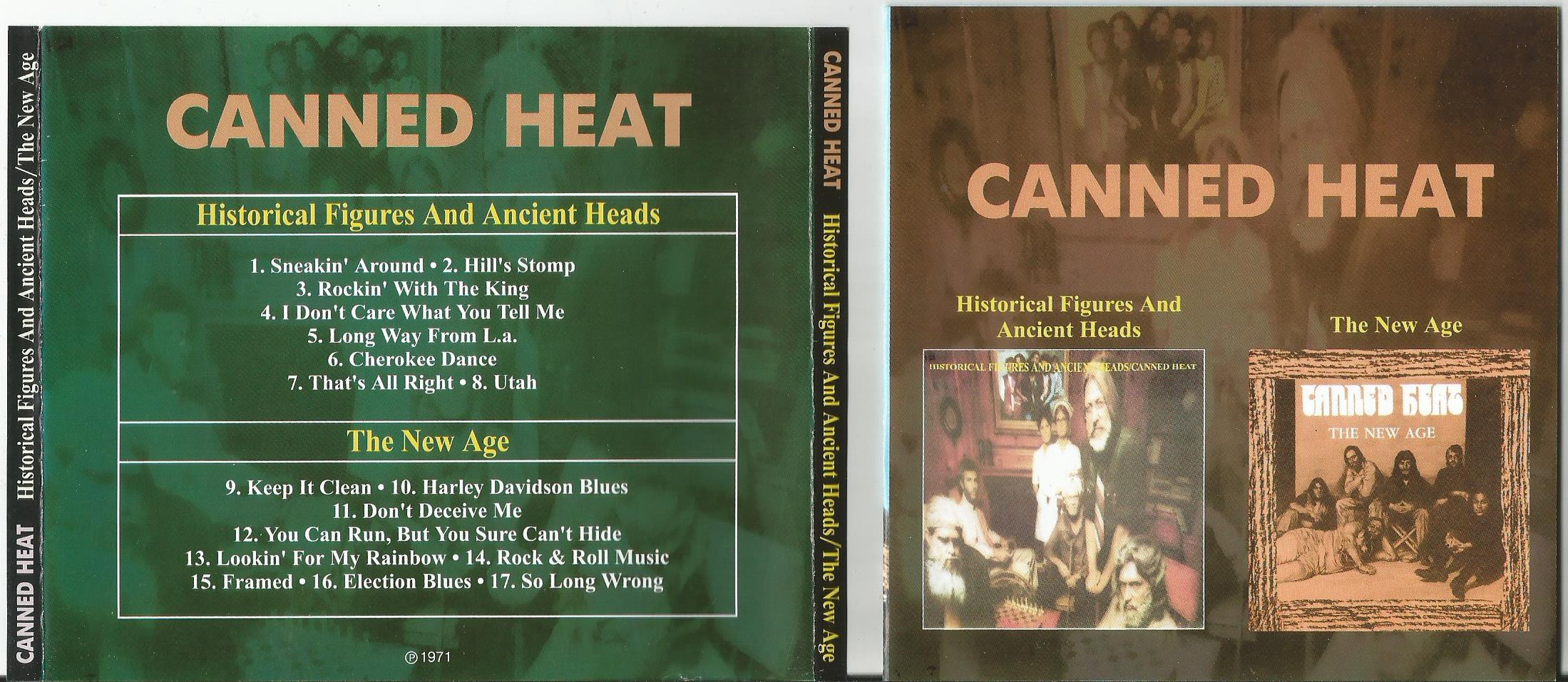 CANNED HEAT - Historical Figures And Ancient Heads/ The New Age (2 In 1cd)