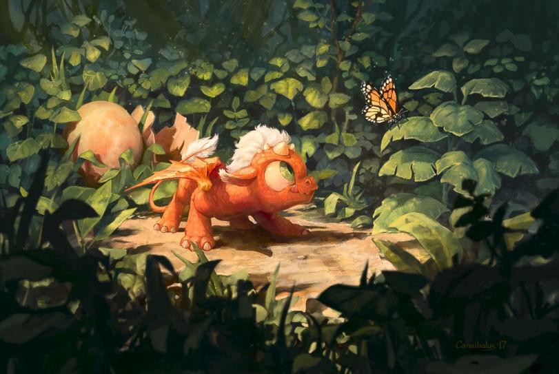 Новорожденный дракончик