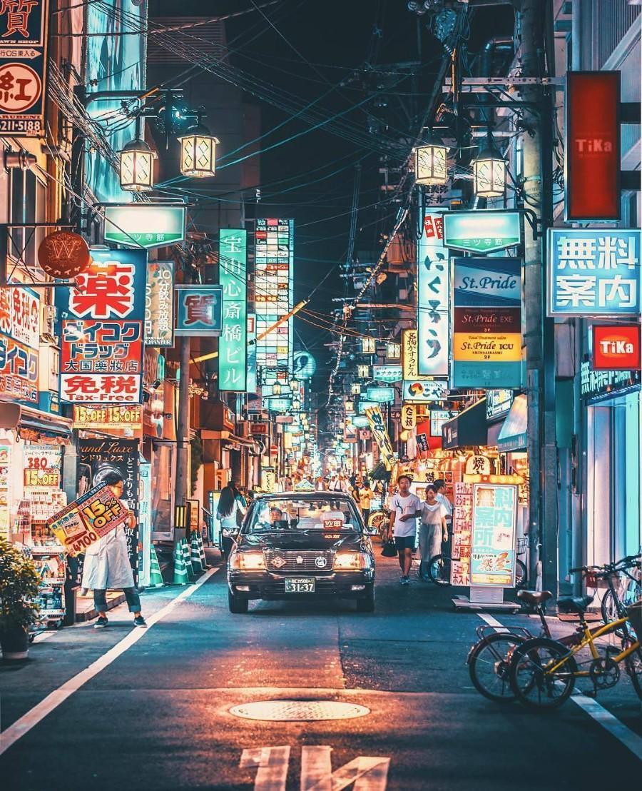 Ночные улочки Японии