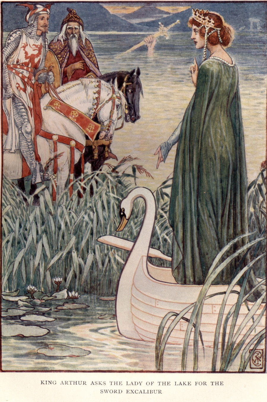 CRANE_King_Arthur_asks_the_lady_of_the_lake_for_the_sword_Excalibur.jpg