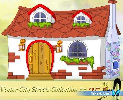 Векторный клипарт - Vector City Streets Collection #4 [AI]