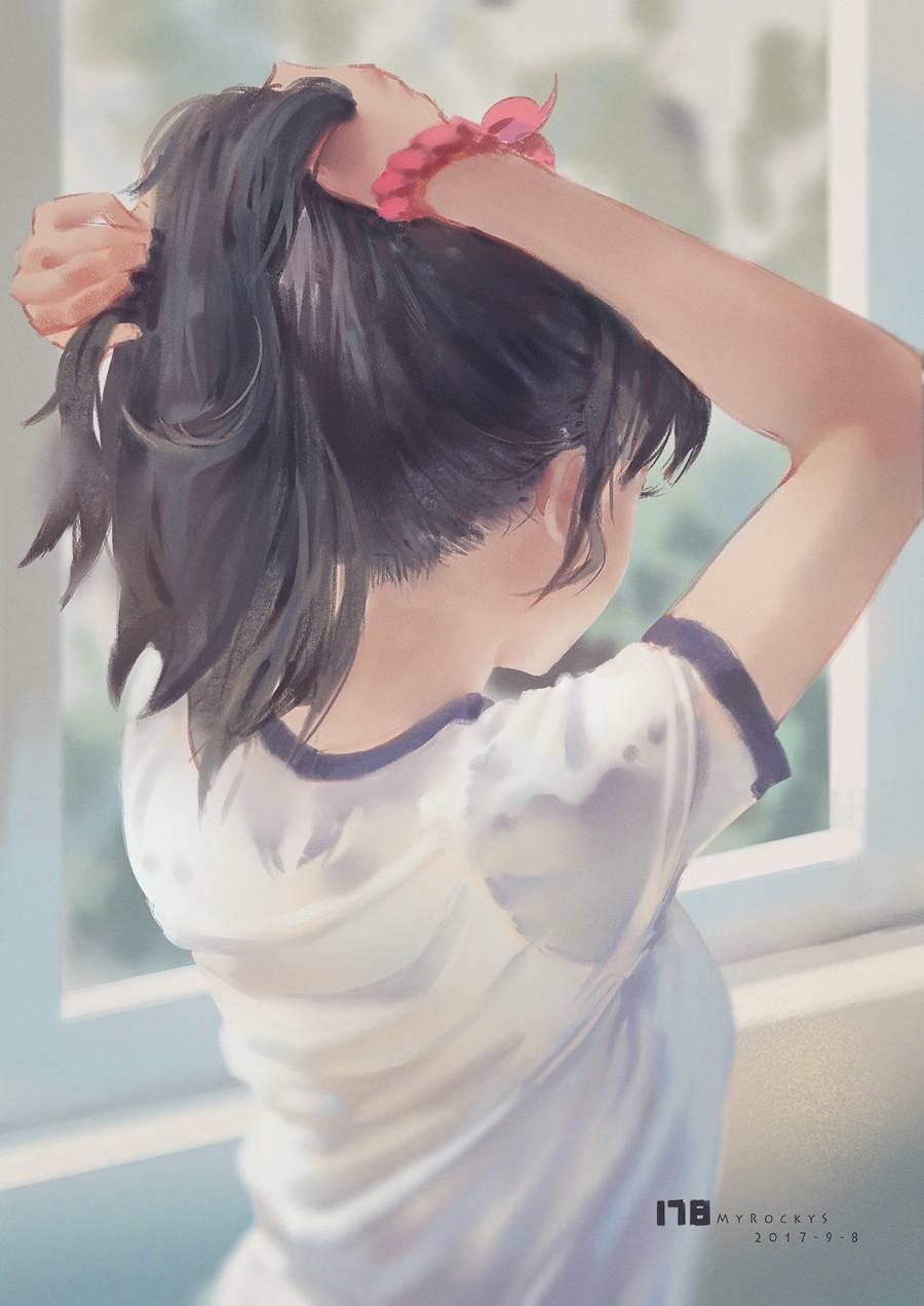 Собирая волосы