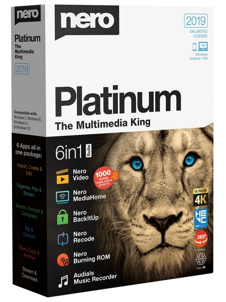 Nero Platinum 2019 Suite v20.0.05900
