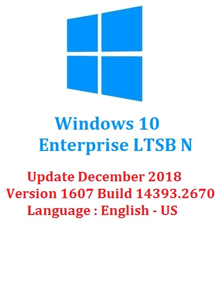 Windows 10 Enterprise N LTSB 2016 ESD En-US (x64) December