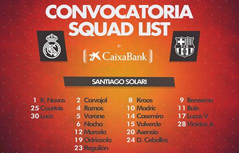 "Заявка ""Мадрида"" на игру против ""Барселоны"""