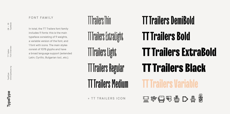 Шрифт TT Trailers