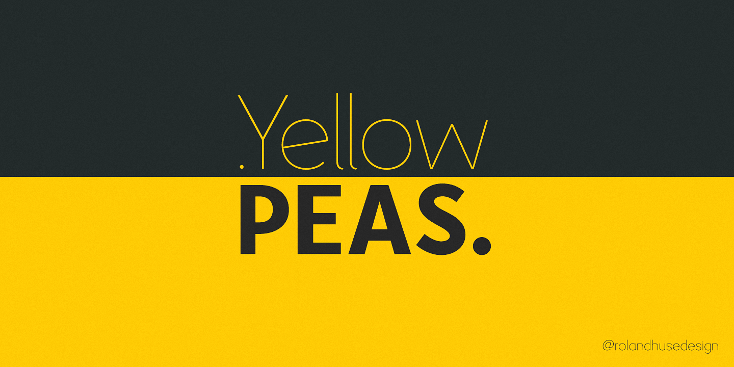 Шрифт Yellow Peas