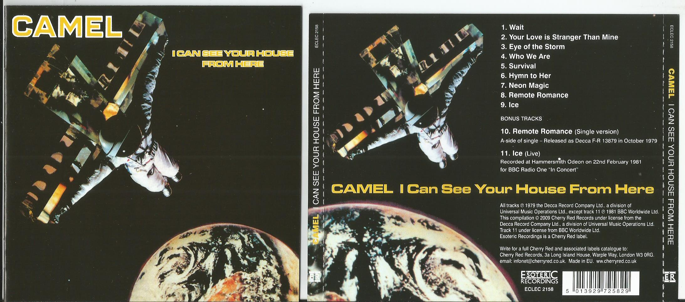 CAMEL I Can See Your House From Here + 2bonus tracks (16page booklet)
