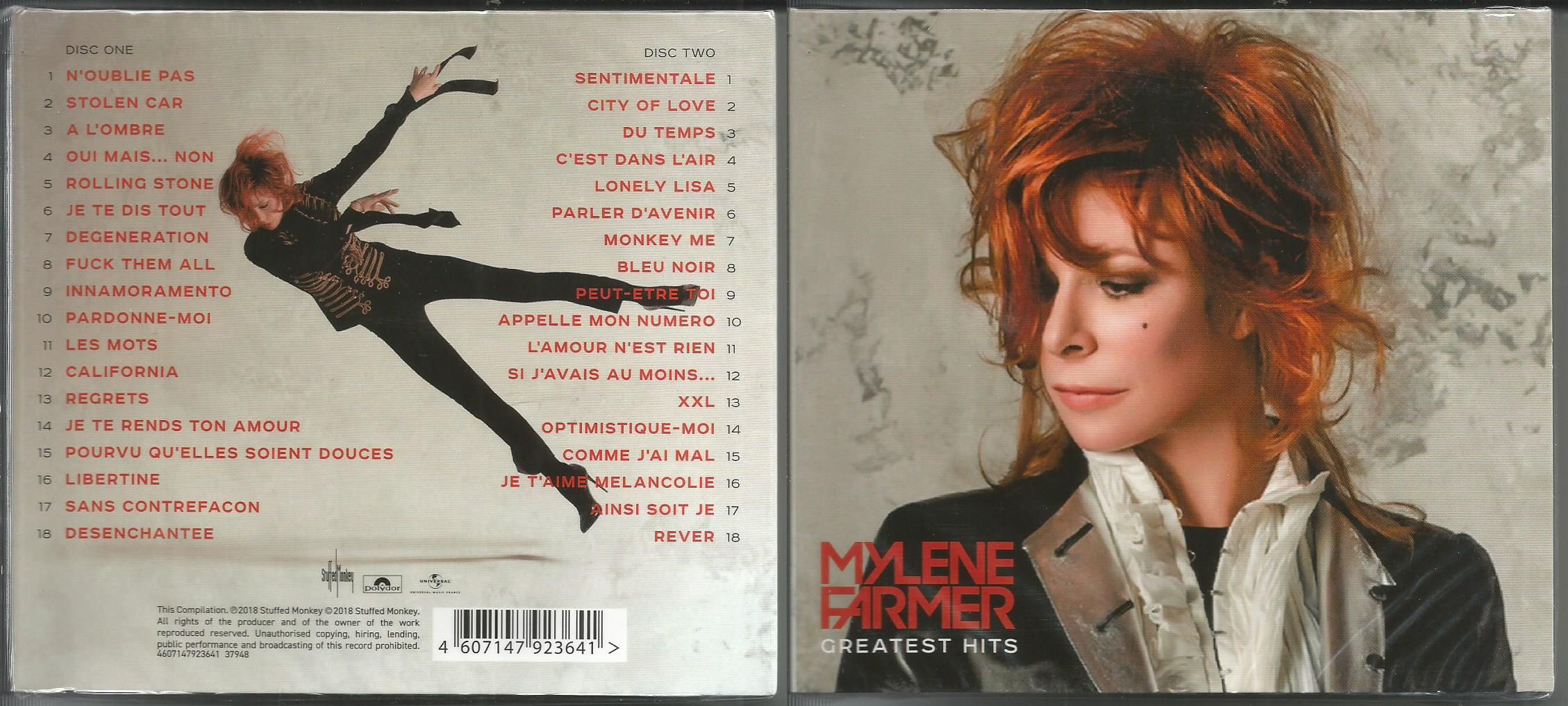 farmer, mylene greatest hits 2018 (36track russia only 2016 compilation, triple foldout digipack, sealed)