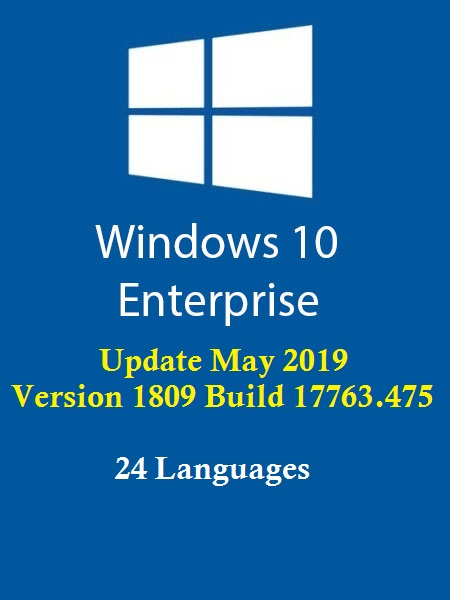 Windows 10 Enterprise Redstone 5 Multi-24 (x64) May 2019