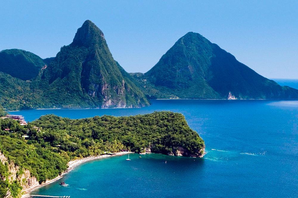 Вид на остров Сент-Люсия