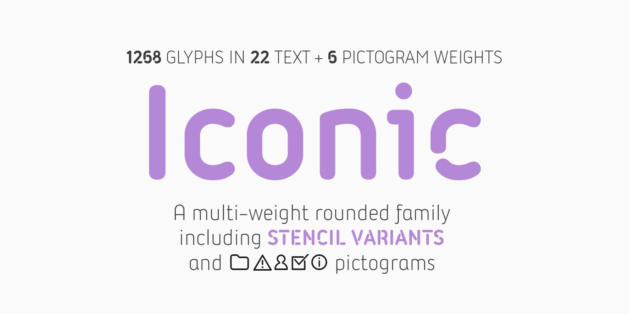 Шрифт Iconic