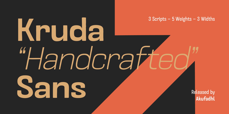 Шрифт Kruda Handcrafted Sans