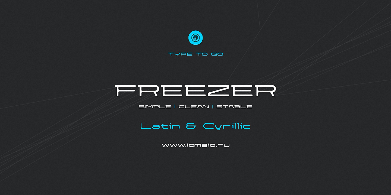 Шрифт Freezer