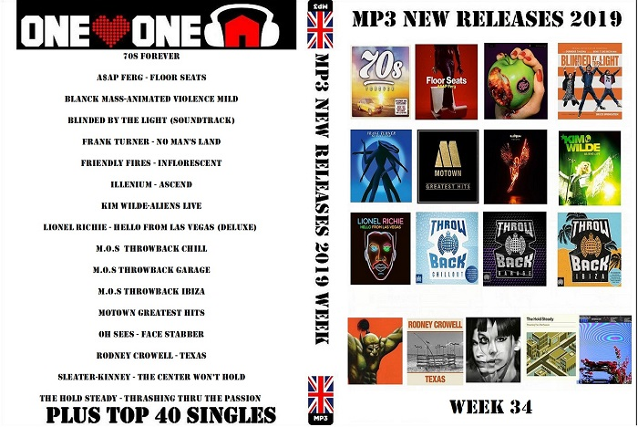 MP3 New Releases 2019 Week 34.2