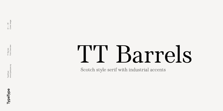 Шрифт TT Barrels