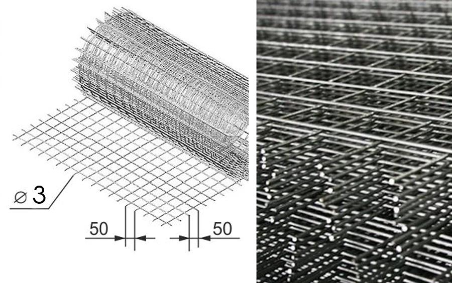 Размеры кладочной сетки