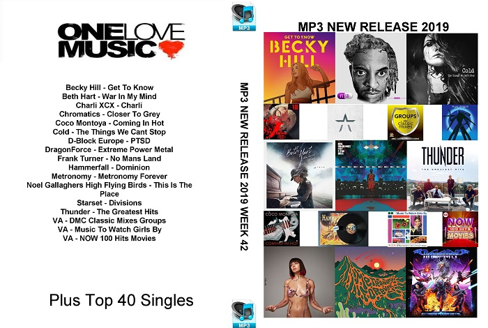 MP3 NEW RELEASES 2019 WEEK 42