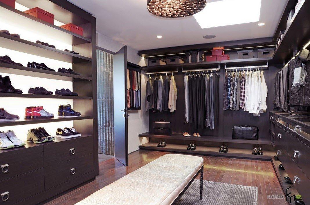 Звездные гардеробные с угловыми шкафами
