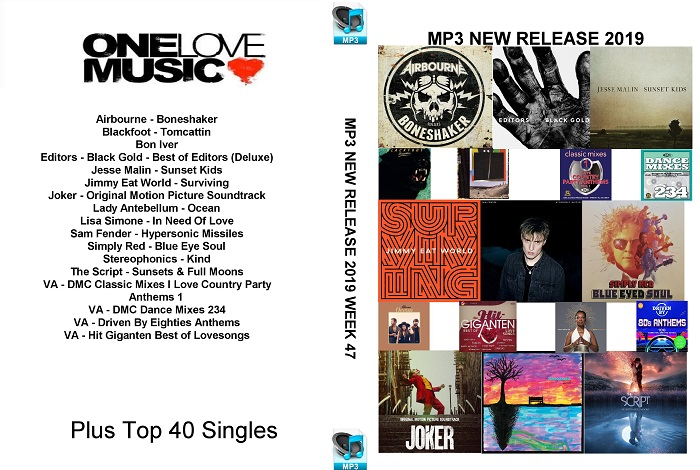 MP3 NEW RELEASES 2019 WEEK 47