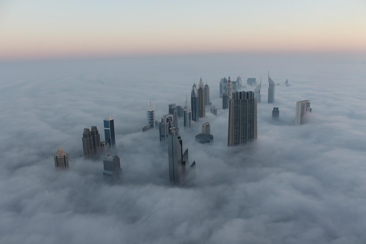 Туман в Эмиратах зимой